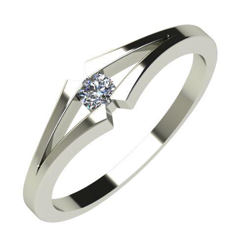 Годежен Пръстен бяло злато с диамант Eyes 0,07 ct. 710