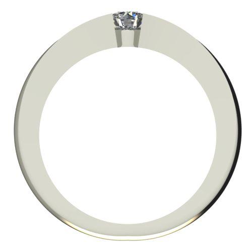 Годежен Пръстен бяло злато с диамант Eyes 0,17 ct. 2133 b