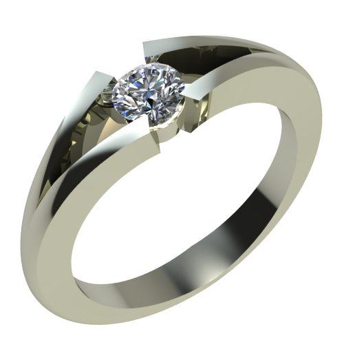 Годежен Пръстен бяло злато с диамант Eyes 0,17 ct. 2133