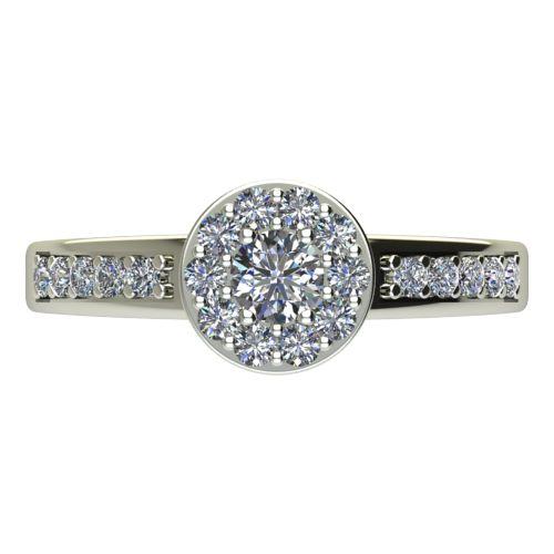 Годежен Пръстен бяло злато с диамант Halo 0,47 ct. 2081 a
