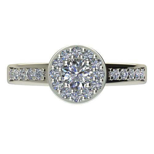 Годежен Пръстен бяло злато с диамант Halo 0,58 ct. 2082 a