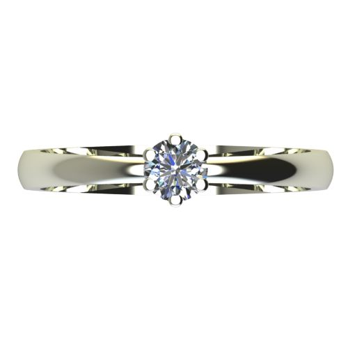 Годежен Пръстен бяло злато с диамант Nova 0,07 ct. 2116 a
