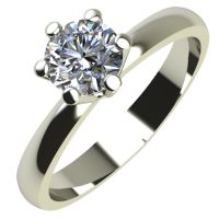 Годежен Пръстен бяло злато с диамант Nova 0,12 ct. 2117