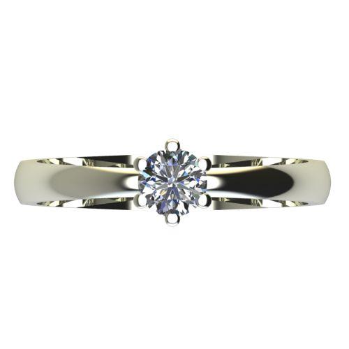 Годежен Пръстен бяло злато с диамант Nova 0,12 ct. 2117 a