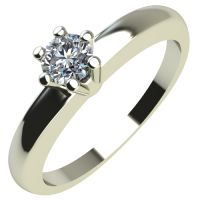 Годежен Пръстен бяло злато с диамант Piece 0,07 ct. 2110