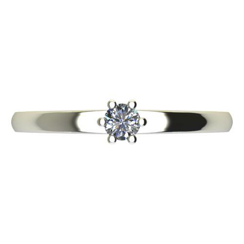 Годежен Пръстен бяло злато с диамант Piece 0,07 ct. 2110 a