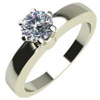 Годежен Пръстен бяло злато с диамант Piece 0,12 ct. 2111