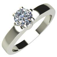 Годежен Пръстен бяло злато с диамант Piece 0,17 ct. 2113