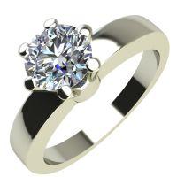 Годежен Пръстен бяло злато с диамант Piece 0,25 ct. 2115