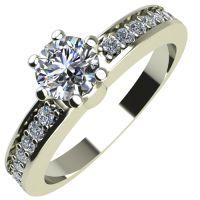 Годежен Пръстен бяло злато с диамант Piece 0,26 ct. 2112
