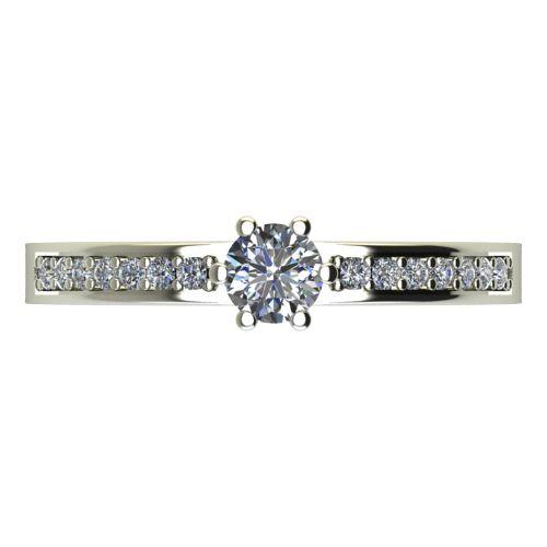 Годежен Пръстен бяло злато с диамант Piece 0,26 ct. 2112 a