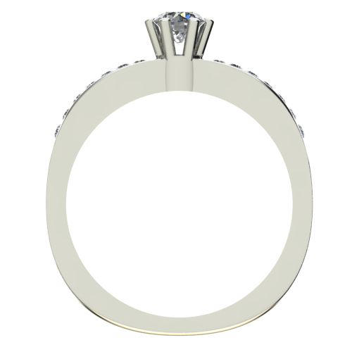 Годежен Пръстен бяло злато с диамант Piece 0,26 ct. 2112 b