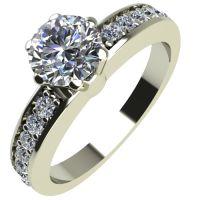 Годежен Пръстен бяло злато с диамант Piece 0,39 ct. 2114