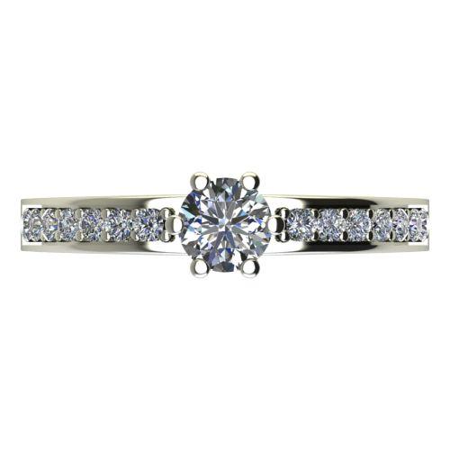 Годежен Пръстен бяло злато с диамант Piece 0,39 ct. 2114 a