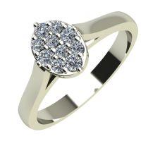 Годежен Пръстен бяло злато с диамант Snowy 0,12 ct. 2093