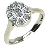 Годежен Пръстен бяло злато с диамант Snowy 0,15 ct. 2095