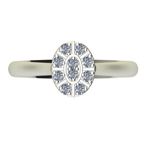 Годежен Пръстен бяло злато с диамант Snowy 0,15 ct. 2095 a