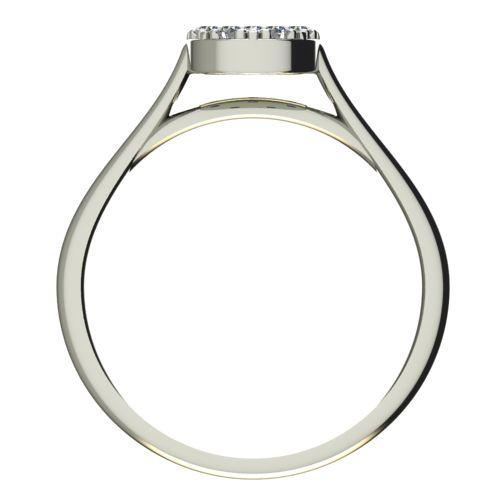 Годежен Пръстен бяло злато с диамант Snowy 0,15 ct. 2095 b