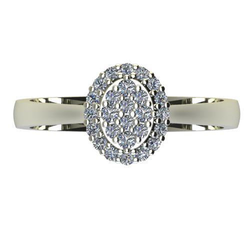 Годежен Пръстен бяло злато с диамант Snowy 0,28 ct. 2094 a