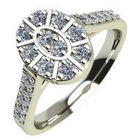 Годежен Пръстен бяло злато с диамант Snowy 0,30 ct. 2106