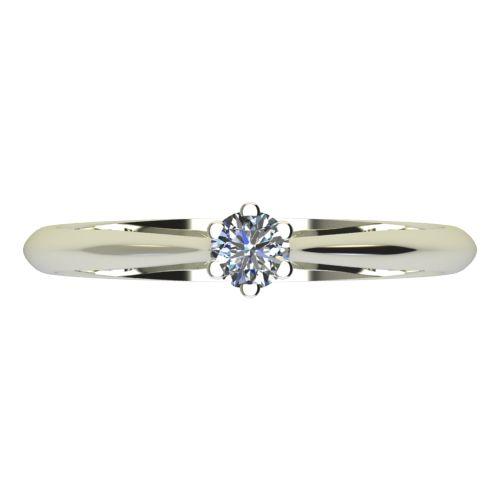 Годежен Пръстен бяло злато с диамант Tulip 0,04 ct. 2118 a
