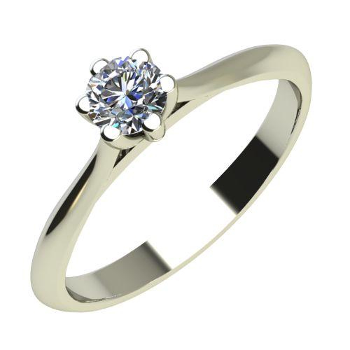 Годежен Пръстен бяло злато с диамант Tulip 0,04 ct. 2118