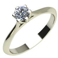 Годежен Пръстен бяло злато с диамант Tulip 0,07 ct. 2119