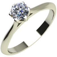 Годежен Пръстен бяло злато с диамант Tulip 0,12 ct. 2120