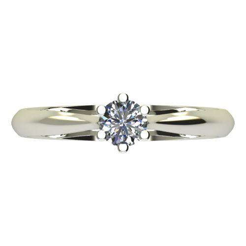Годежен Пръстен бяло злато с диамант Tulip 0,12 ct. 2120 a