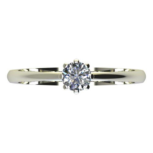 Годежен Пръстен бяло злато с диамант Tulip 0,12 ct. 2124 a