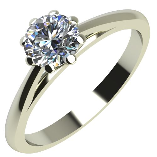 Годежен Пръстен бяло злато с диамант Tulip 0,12 ct. 2124