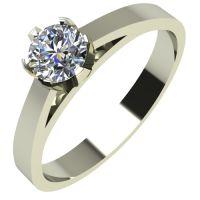 Годежен Пръстен бяло злато с диамант Tulip 0,12 ct. 2139