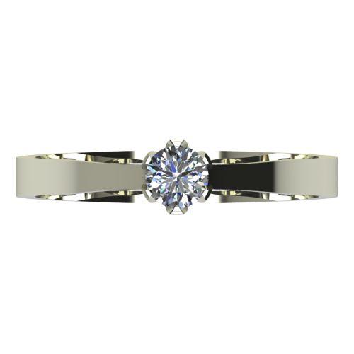 Годежен Пръстен бяло злато с диамант Tulip 0,12 ct. 2139 a