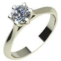 Годежен Пръстен бяло злато с диамант Tulip 0,17 ct. 2121