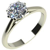 Годежен Пръстен бяло злато с диамант Tulip 0,17 ct. 2125