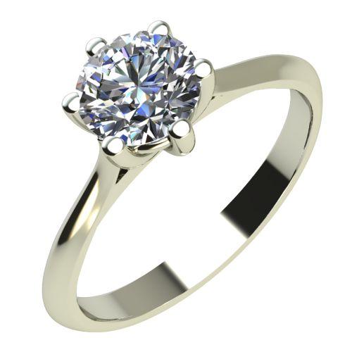 Годежен Пръстен бяло злато с диамант Tulip 0,25 ct. 2122
