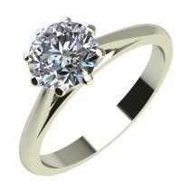 Годежен Пръстен бяло злато с диамант Tulip 0,25 ct. 2126