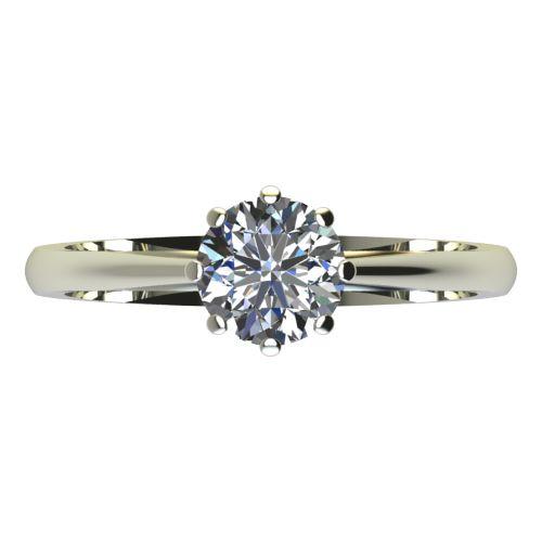 Годежен Пръстен бяло злато с диамант Tulip 0,25 ct. 2126 a