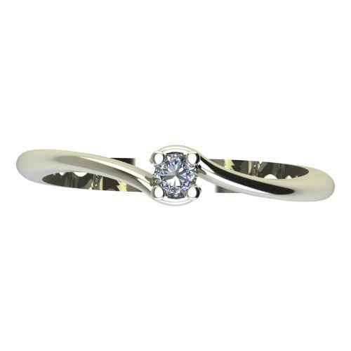 Годежен Пръстен бяло злато с диамант Unity 0,04 ct. 2129 a
