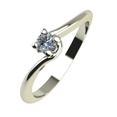 Годежен Пръстен бяло злато с диамант Unity 0,04 ct. 2129