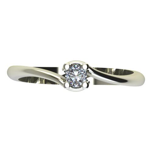 Годежен Пръстен бяло злато с диамант Unity 0,07 ct. 2130 a