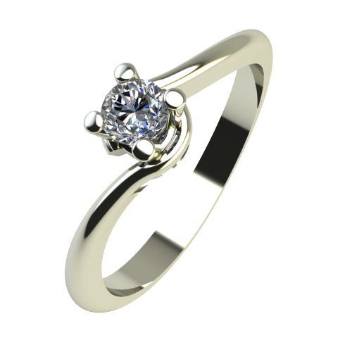 Годежен Пръстен бяло злато с диамант Unity 0,07 ct. 2130