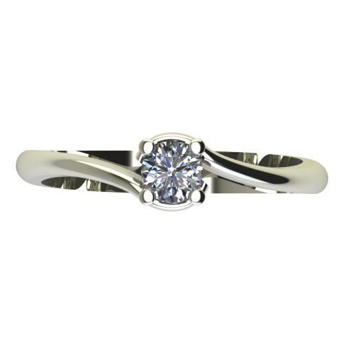 Годежен Пръстен бяло злато с диамант Unity 0,12 ct. 2131 a