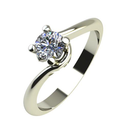Годежен Пръстен бяло злато с диамант Unity 0,12 ct. 2131