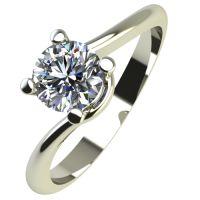 Годежен Пръстен бяло злато с диамант Unity 0,17 ct. 2132