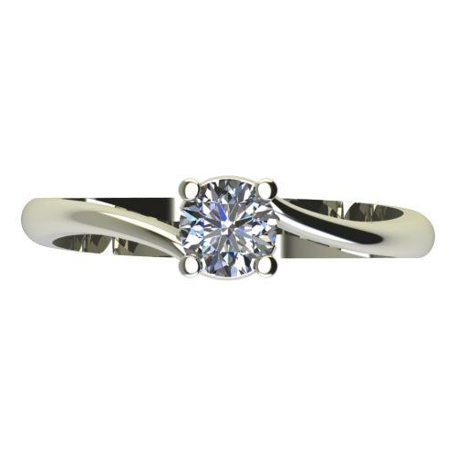 Годежен Пръстен бяло злато с диамант Unity 0,17 ct. 2132 a
