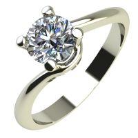 Годежен Пръстен бяло злато с диамант Unity 0,25 ct. 2138