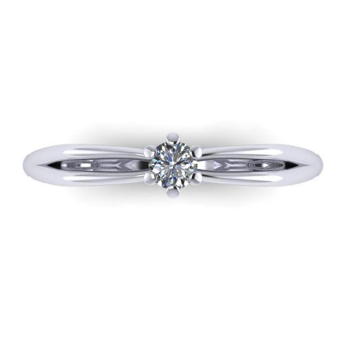 Годежен Пръстен бяло злато с диамант Wings 0,07 ct. 2134 a