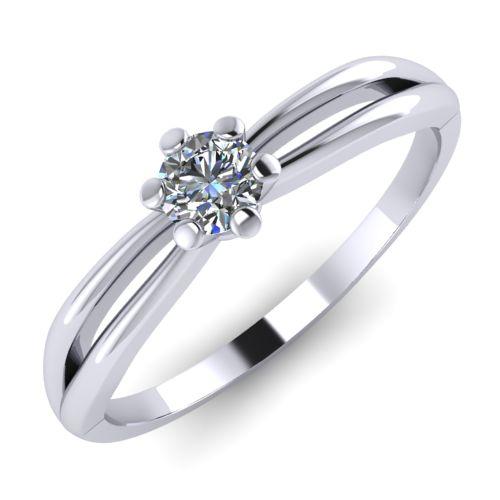 Годежен Пръстен бяло злато с диамант Wings 0,07 ct. 2134