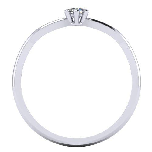Годежен Пръстен бяло злато с диамант Wings 0,07 ct. 2134 b